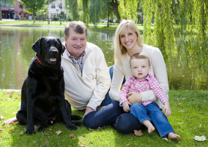 professional family photography including the dog