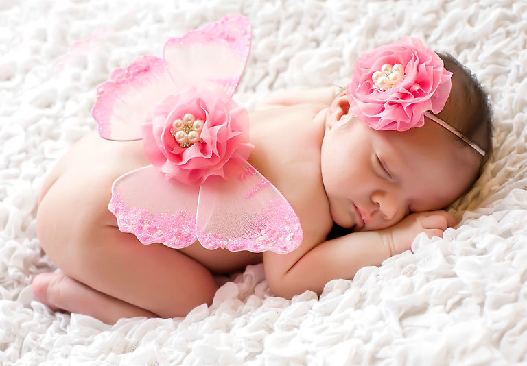 newborn baby with wings